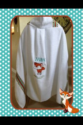 Judy Forest Animals Applique Hooded Towel