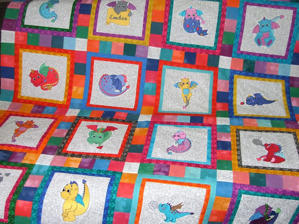 Lindy Lou Kidsword Baby Dragons Quilt Oct 16