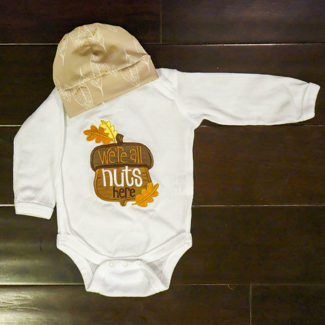 Gabriela Thanksgiving Sentiments Onesie Oct 16