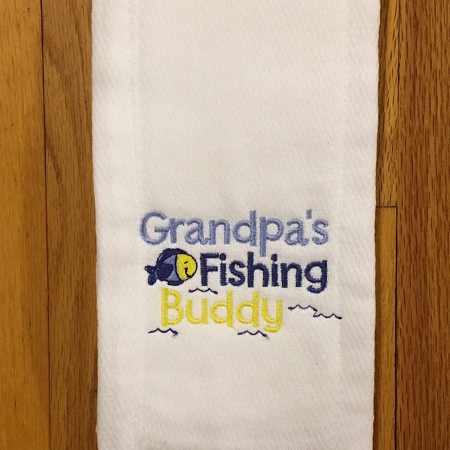 Phyllis Dear Grandpa Burp Cloth Oct 16