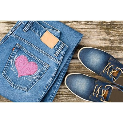 Doodles Applique Jeans
