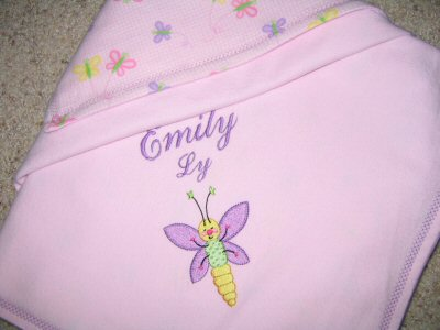 Lyns Doodle Bugs Baby Blanket