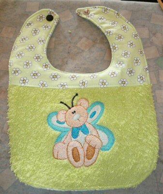 Tracys Butterfly Bears Bib