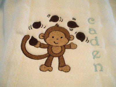 Ambers Monkeying Around Bibs