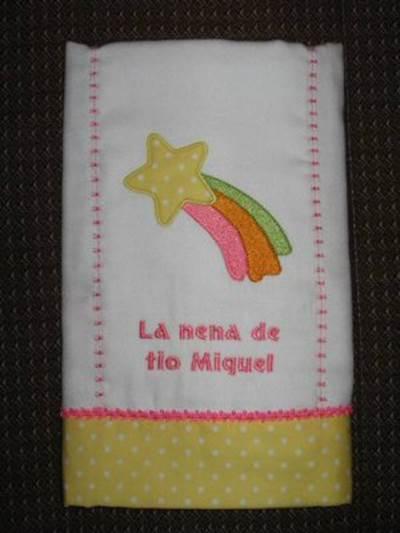 Leilanys Baby Applique Burp Cloth