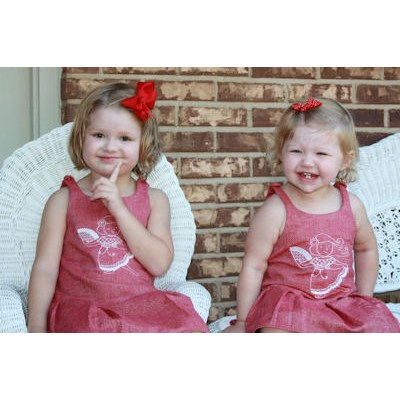 Anitas Kids of the World Redwork Dresses