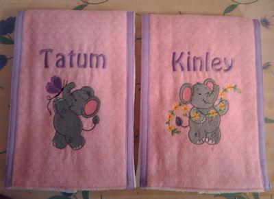 Bonnies Little Nellie Twin Burp Cloths