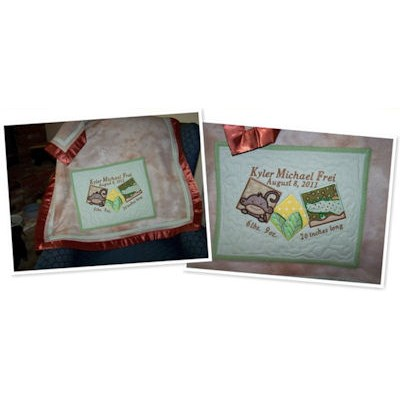 Pamelas Monkey Friends Applique Blocks Blanket