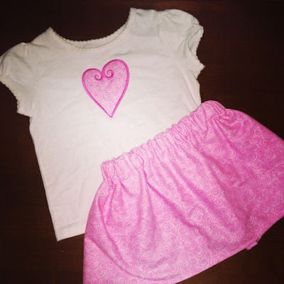 Britney Applique Hearts Outfit