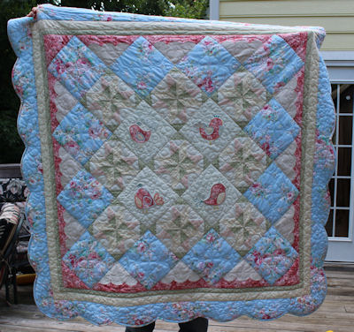 Cathys Tweet Thing Applique Vintage Quilt