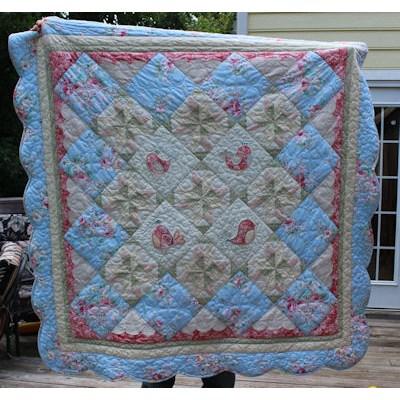 Cathys Tweet Thing Applique Vintage Quilt