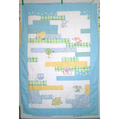 Hilary Forest Animals Applique Quilt and Pillow