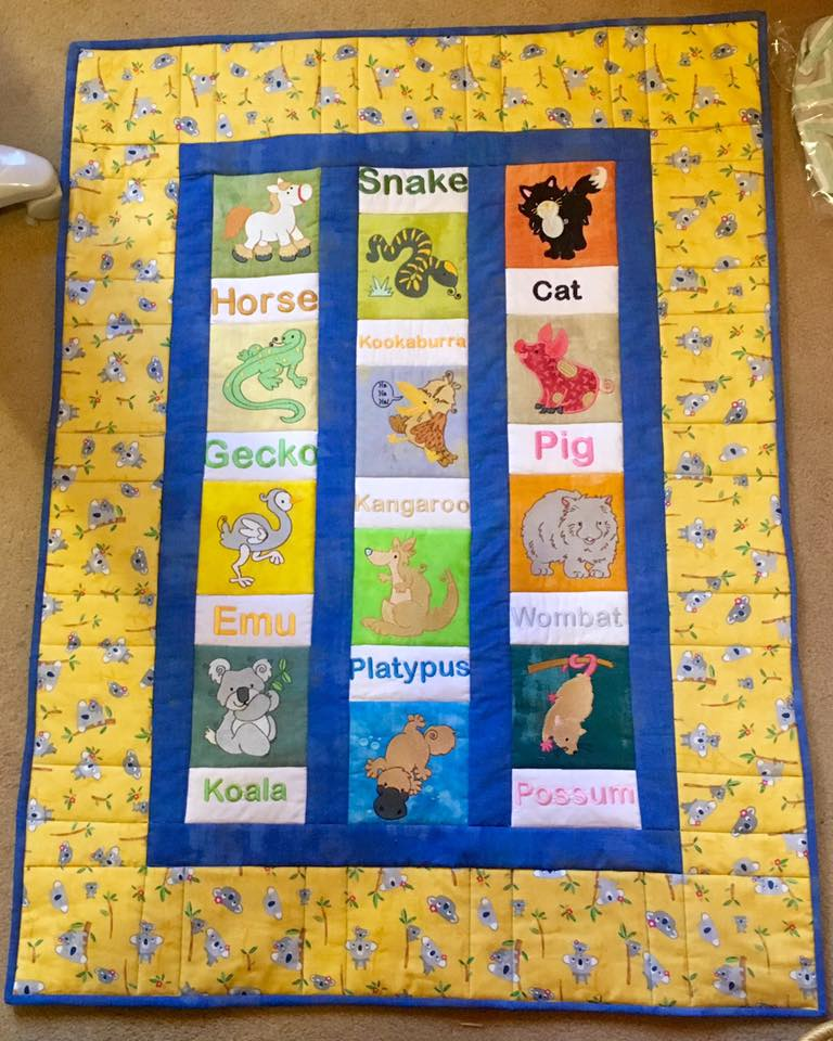 Elizabeth Aussie Animals Quilt Sep 16